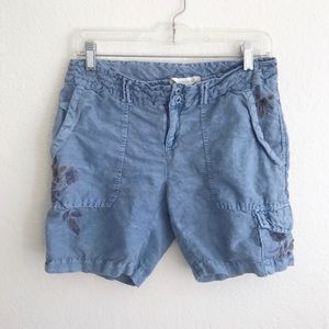 Sundance Kennebunk Cargo Embroidered Shorts Size 4